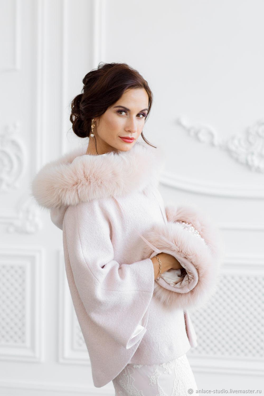 Wedding coat, Bridal jacket, Fur jacket, Wedding cover up, Gerda 2, Capes, Moscow,  Фото №1