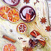 Картины и панно handmade. Livemaster - original item Still life Tea Orange Original oil painting Contemporary wall art. Handmade.