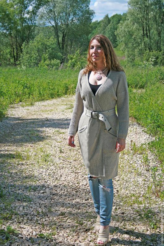 Верхняя одежда ручной работы. Ярмарка Мастеров - ручная работа. Купить Вязаное летнее пальто. Handmade. Пальто женское