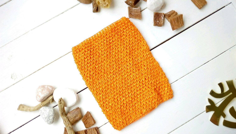 Шитье ручной работы. Ярмарка Мастеров - ручная работа. Купить Топ-резинка средний (18 см на 23 см) оранжевый. Handmade.