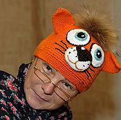 Работы для детей, ручной работы. Ярмарка Мастеров - ручная работа шапка кот. Handmade.
