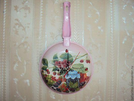 Часы для дома ручной работы. Ярмарка Мастеров - ручная работа. Купить часы для кухни. Handmade. Часы настенные, кошка