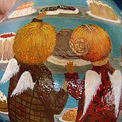 """Для дома и интерьера ручной работы. Ярмарка Мастеров - ручная работа Вазочка """"Зачем мне рай,если в нём нет шоколада.."""". Handmade."""