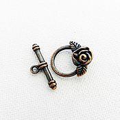 Материалы для творчества handmade. Livemaster - original item Locking clasp to jewelry toggle COPPER (Ref. 1529). Handmade.