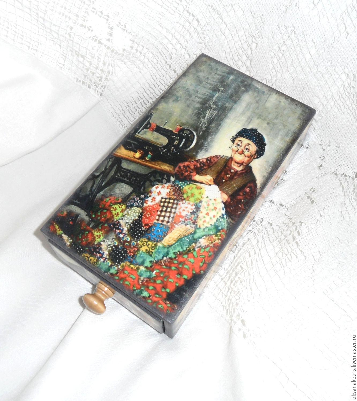 Box pencil case Grandma's quilt, Box, Novosibirsk,  Фото №1