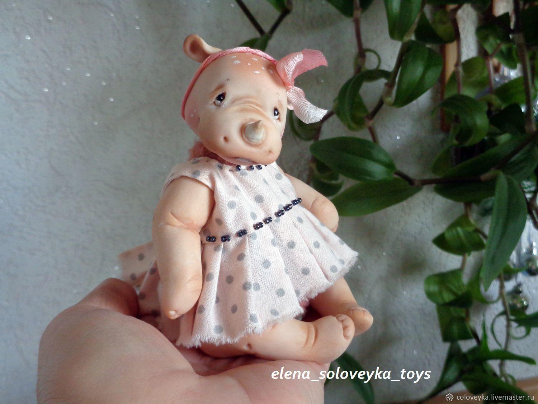 Игрушка Кукла Носорожка Мо, Мягкие игрушки, Москва,  Фото №1