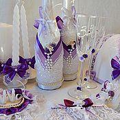 """Свадебный салон ручной работы. Ярмарка Мастеров - ручная работа Свадебный комплект """"Виолетта """". Handmade."""