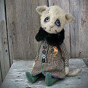Куклы и игрушки ручной работы. Ярмарка Мастеров - ручная работа Лёка. Teddy bear and friends/ Teddy kitten. Handmade.
