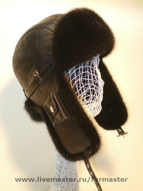 """Шапки ручной работы. Ярмарка Мастеров - ручная работа. Купить Шлем """"Ультра """". Handmade. Шлем, кожа, шапка, мех"""