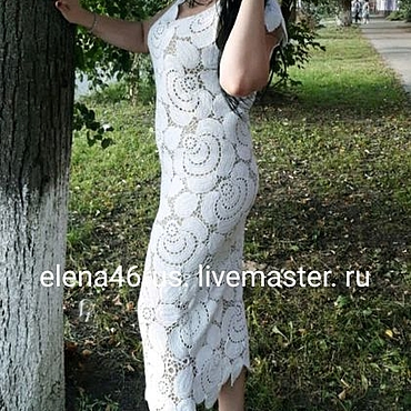 Одежда handmade. Livemaster - original item Dress WHITE ROSE(take 2). Handmade.