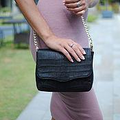 Сумки и аксессуары handmade. Livemaster - original item Crocodile leather bag Luxury Black. Handmade.