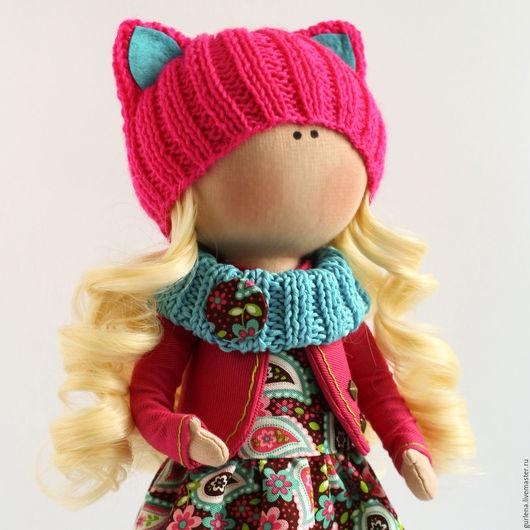 Коллекционные куклы ручной работы. Ярмарка Мастеров - ручная работа. Купить Интерьерная кукла.. Handmade. Разноцветный, текстильная игрушка