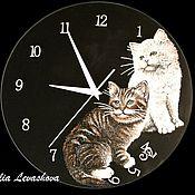 """Для дома и интерьера ручной работы. Ярмарка Мастеров - ручная работа Часы """"Котики"""". Handmade."""