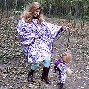 """Одежда ручной работы. Ярмарка Мастеров - ручная работа Плащ-дождевик """" Пузыри на пурпурном"""". Handmade."""