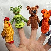 Куклы и игрушки ручной работы. Ярмарка Мастеров - ручная работа Пальчиковые куклы (кукольный театр). Handmade.