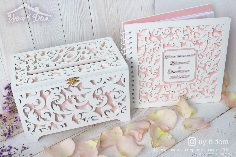 Wooden wedding box wooden wedding wish book, Sets accessories, Dimitrovgrad,  Фото №1