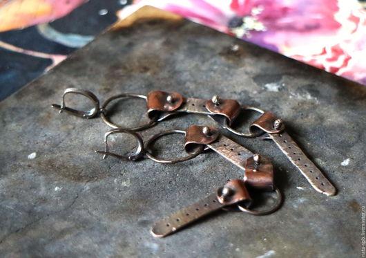 Серьги ручной работы. Ярмарка Мастеров - ручная работа. Купить COWGIRL серьги (серебро, медь). Handmade. Ковбойский стиль