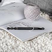 Материалы для творчества handmade. Livemaster - original item 10mm Cedar Wood Knitting Hook. K290. Handmade.