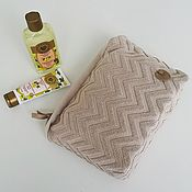 Сумки и аксессуары handmade. Livemaster - original item Cosmetic bag cotton Terry light beige taup. Handmade.