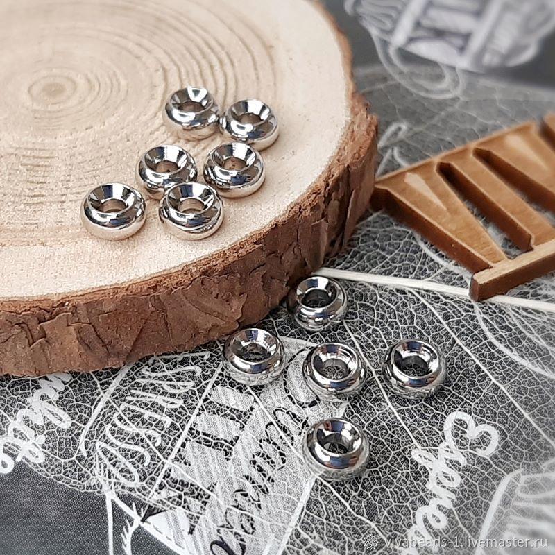 1 PCs. Spacer bead 5h3 mm rhodium (4199), Beads1, Voronezh,  Фото №1