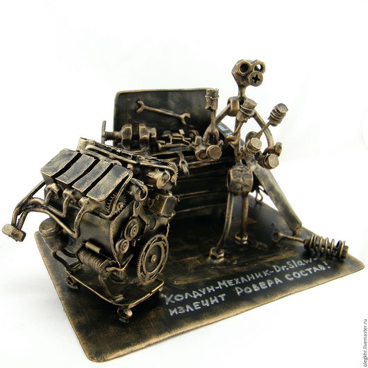 Миниатюрные модели ручной работы. Ярмарка Мастеров - ручная работа. Купить Автомеханик Land Rover. Handmade. Скульптурная миниатюра