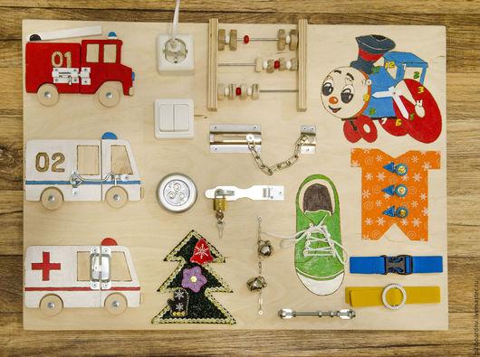 """Развивающие игрушки ручной работы. Ярмарка Мастеров - ручная работа. Купить Бизиборд """"Машинки2"""". Handmade. Раннее развитие, развивающая игрушка"""