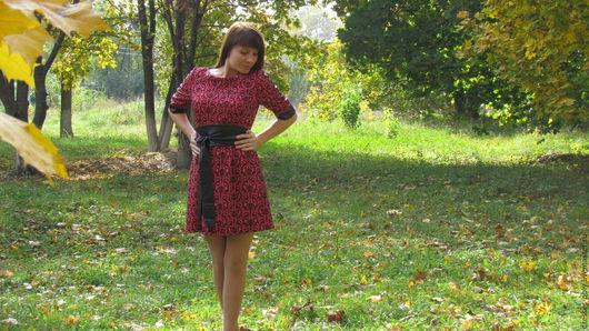 Платья ручной работы. Ярмарка Мастеров - ручная работа. Купить Платье с орнаментом. Handmade. Платье, удобное платье, искуственная кожа