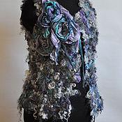 """Одежда ручной работы. Ярмарка Мастеров - ручная работа Жилет  """"Grey turquoise"""". Handmade."""