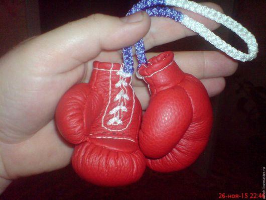 Подарки для мужчин, ручной работы. Ярмарка Мастеров - ручная работа. Купить Боксерские перчатки (сувенирные). Handmade. Ярко-красный, бокс