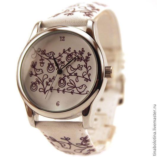 Часы ручной работы. Ярмарка Мастеров - ручная работа. Купить Дизайнерские наручные часы Вышивка. Handmade. Наручные часы