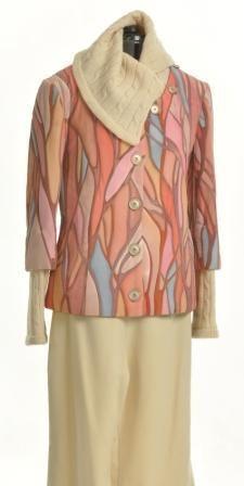 """Верхняя одежда ручной работы. Ярмарка Мастеров - ручная работа. Купить Куртка - трансформер """" Розовые деревья"""". Handmade. Рисунок"""