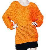 Одежда ручной работы. Ярмарка Мастеров - ручная работа Яркий оранжевый свитер. Handmade.