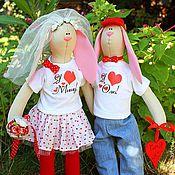 Куклы и игрушки ручной работы. Ярмарка Мастеров - ручная работа Свадебные зайки (рост 40см и выше). Handmade.