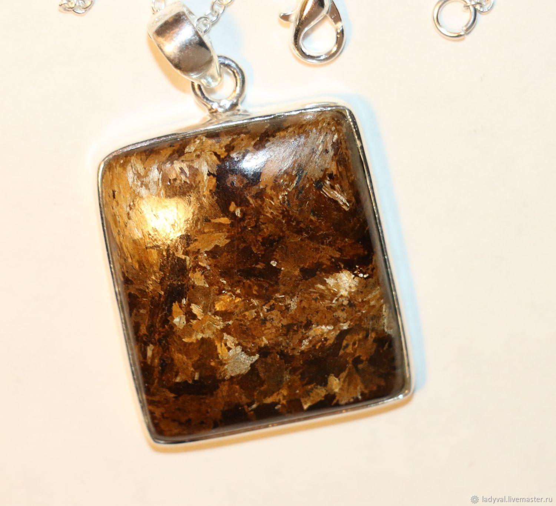 Кулон борнит пёстрая медь бронзит серебро 925, Подвеска, Москва,  Фото №1