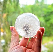 "Сувениры и подарки handmade. Livemaster - original item Glass sphere small 6 cm ""Dandelion"". Handmade."