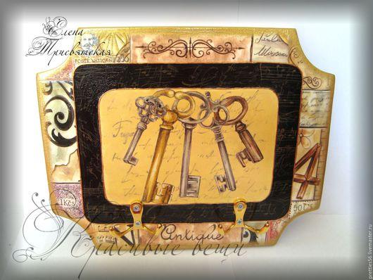 """Прихожая ручной работы. Ярмарка Мастеров - ручная работа. Купить Ключница (вешалка) """"Воспоминания"""". Декупаж, ретро, винтаж.. Handmade. Комбинированный"""