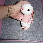 Куклы и игрушки ручной работы. Ярмарка Мастеров - ручная работа зайчик тедди. Handmade.