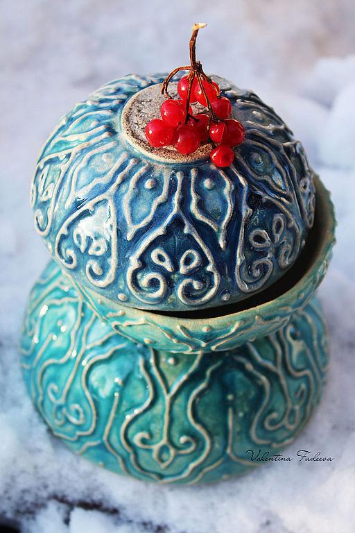 """Пиалы ручной работы. Ярмарка Мастеров - ручная работа. Купить Набор пиал из серии """"Azure"""". Handmade. Керамика, глина, чаши"""