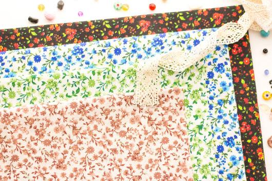 Хлопок 100%. Ткань для шитья, тильд, игрушек, квилтинга, пэчворка, скрапбукинга. Мягкий хлопок. Ткань для творчества. Ивановские ткани. Ситец. Бязь. Купить ткань. Хлопок, веточки, цветочки, цветы