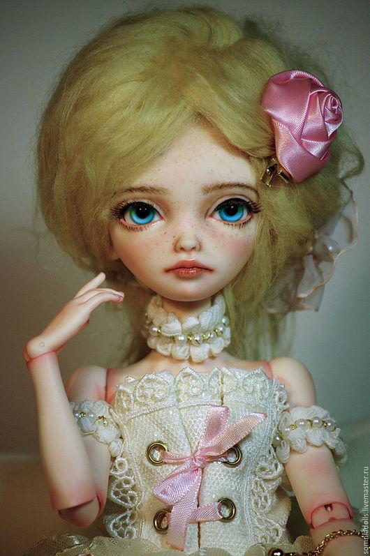 Коллекционные куклы ручной работы. Ярмарка Мастеров - ручная работа. Купить А-серия, молд  Ангелика, голова. Handmade. Бежевый