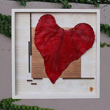 Картины и панно ручной работы. Ярмарка Мастеров - ручная работа Влюбленное сердце «VivantArt» объемная картина. Handmade.