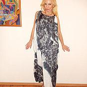 Одежда ручной работы. Ярмарка Мастеров - ручная работа платье- Королевская графика. Handmade.