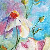 """Картины и панно ручной работы. Ярмарка Мастеров - ручная работа Картина """"Космея. Белые цветы"""". Handmade."""