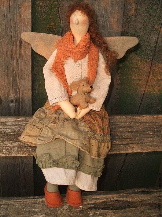 Куклы Тильды ручной работы. Ярмарка Мастеров - ручная работа. Купить Геня и Бусинка. Handmade. Бохо, эксклюзивный подарок, собака
