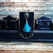 Канцелярские товары handmade. Livemaster - original item Desktop organizer mood Color blue. Handmade.