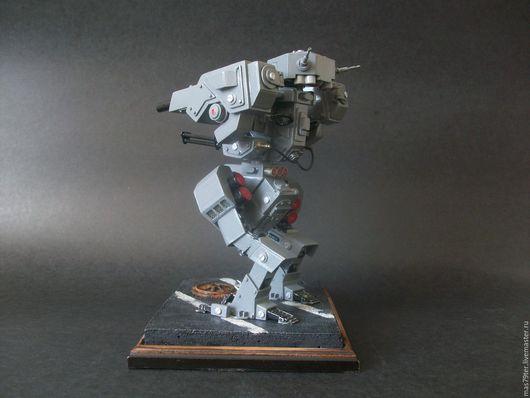 Миниатюрные модели ручной работы. Ярмарка Мастеров - ручная работа. Купить Боевой мех. Handmade. Серый, робот, мастер-класс
