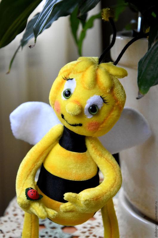 Сказочные персонажи ручной работы. Ярмарка Мастеров - ручная работа. Купить Пчелка Майя. Handmade. Желтый, Пчелка Майя, бархат