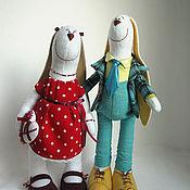 Куклы и игрушки ручной работы. Ярмарка Мастеров - ручная работа интерьерные куклы- зайцы. Handmade.