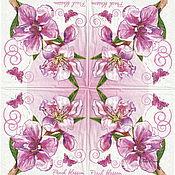 Материалы для творчества handmade. Livemaster - original item 15pcs decoupage napkins tree peach blossom with butterflies. Handmade.