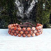 handmade. Livemaster - original item agate fire. Bracelet braided. Handmade.